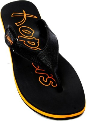 Hoppers Tango Orange and Black Slippers