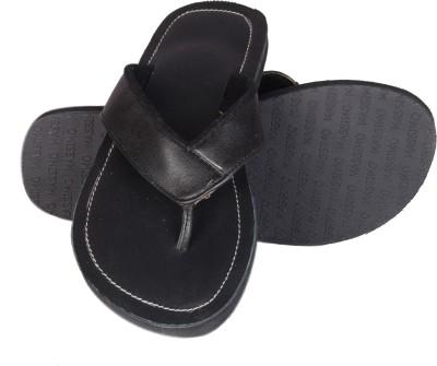 Shoekool Daring Black Leather Slippers