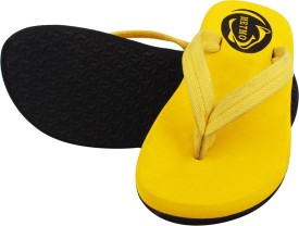 metmo Boys & Girls Slipper Flip Flop(Yellow)