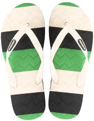 Macoro Striped Hit Flip Flops