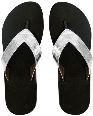 Dr. Cobbler Girls Slipper Flip Flop(Silver)