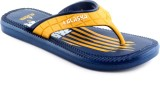 Alaska United Navy Yellow Flip Flops
