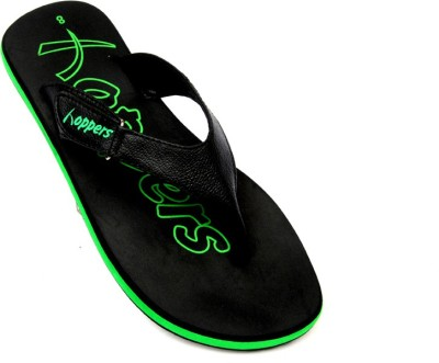 Hoppers Tango Green and Black Slippers