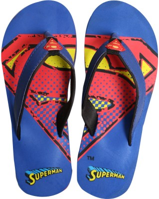 Emerge Authentic Superman Blue Men's Slippers Flip Flops