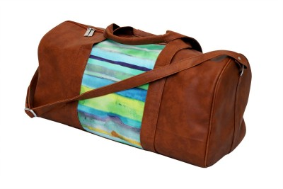 Shor Sharaba Green Strip Small Travel Bag