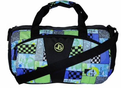 JG Shoppe AOL Duffel Bag 15 inch/38 cm Travel Duffel Bag(Black)