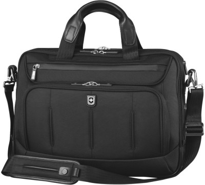 Victorinox VX One Laptop Folio 15 Brief With Tablet / eReader Pocket Small Travel Bag(Black)