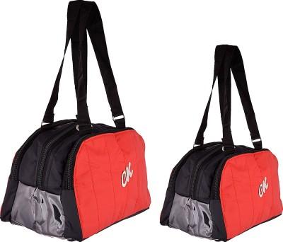 Arishakreationco AK-1083 Black and Red Small Travel Bag  - Big::Small