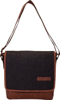 Aekyam Cross Body Small Travel Bag(Black, Brown)