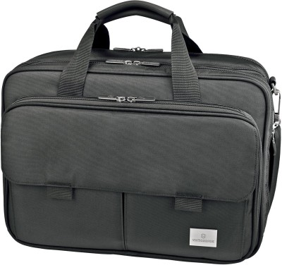 Victorinox Werks Professional Executive 17 Expandable Laptop Case With Tablet Or eReader Pocket Small Travel Bag(Black)