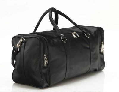 Mboss Faux leather Unisex Black Single Small Travel Bag - Medium(Black)