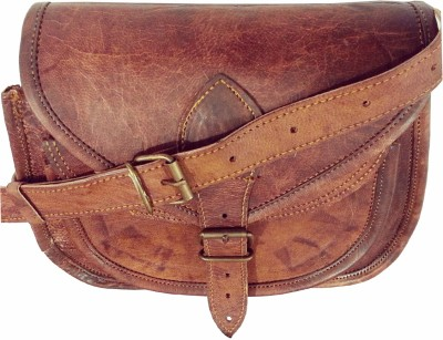 Hide 1858 Genuine Leather Dark Tan Small Travel Bag