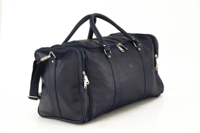 Mboss Faux leather Unisex Blue Plain Single Small Travel Bag  - Medium