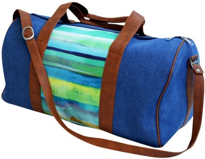 Shor Sharaba Green Strip Small Travel Bag