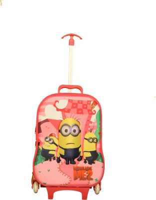 Gamme MINION (BABY PINK F) KIDS LUGGAGE TROLLEY BAG Small Travel Bag