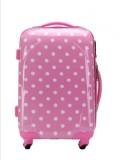 T-Bags Polka Dots Pink 4 Wheel Trolley B...