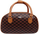Redberry brown checks duffle Small Trave...