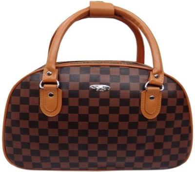 Redberry brown checks duffle Small Travel Bag  - very small