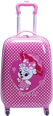T-Bags My Katty With Umbrella 4 Wheel Rose Pink Trolley Small Travel Bag  - Small