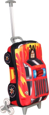 T-Bags 3d Police Car Red Kid,S Trolley Small Travel Bag  - Small