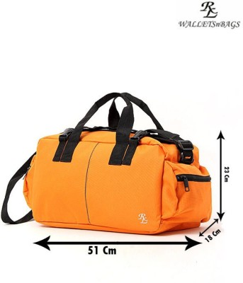 Walletsnbags Army Style Small Travel Bag  - Small(Light Orange)