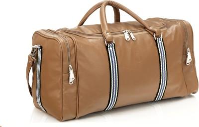 Mboss Faux leather Unisex Beige Multi Small Travel Bag - Medium