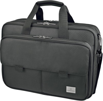 Victorinox Werks Professional Executive 15 Expandable Laptop Case With Tablet Or eReader Pocket Small Travel Bag(Black)