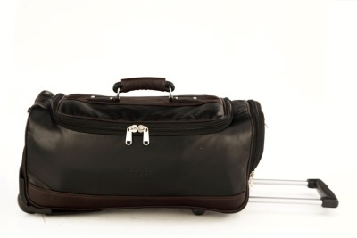 Mboss MBOSS Faux leather Strolley Roller Duffel Bag Small Travel Bag  - Medium at flipkart
