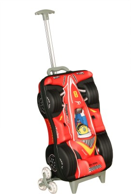 T-Bags 3D Racing Car Red Kid's Trolley Small Travel Bag  - Small
