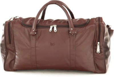 Mboss Faux leather Unisex Brown Single Small Travel Bag  - Medium