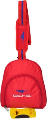 Gene Gene Gym Bags-Red Color-With Shoe Space Small Travel Bag  - LARGE