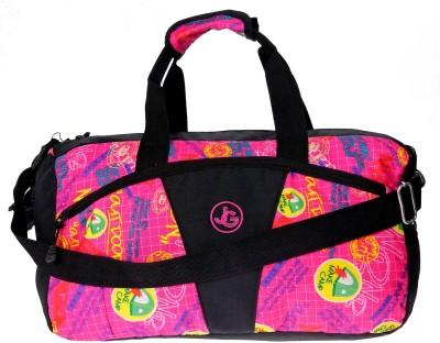 JG Shoppe AOL Duffel Bag 15 inch/38 cm Travel Duffel Bag(Pink)