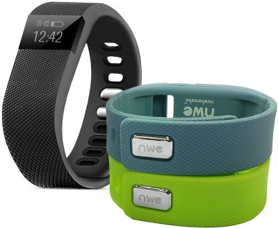 NoWhereElse TW64 Smartband with 2 Additional Replacement Color Bands Veryfit For IOS Android