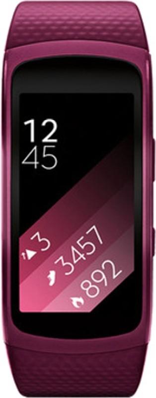 SAMSUNG Gear Fit 2 Pink Smartwatch(Pink Strap L)