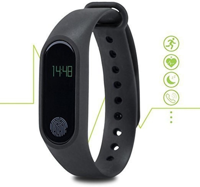 Bingo M2 Black Waterproof Fitness Band With Bluetooth Feature(Black)