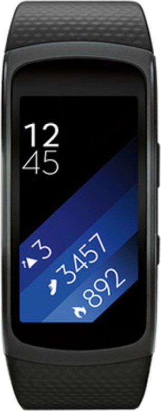 SAMSUNG Gear Fit 2 Black Smartwatch(Black Strap L)