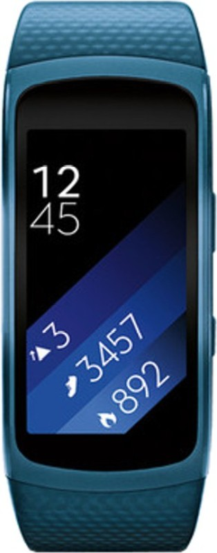 SAMSUNG Gear Fit 2 Blue Smartwatch(Blue Strap L)
