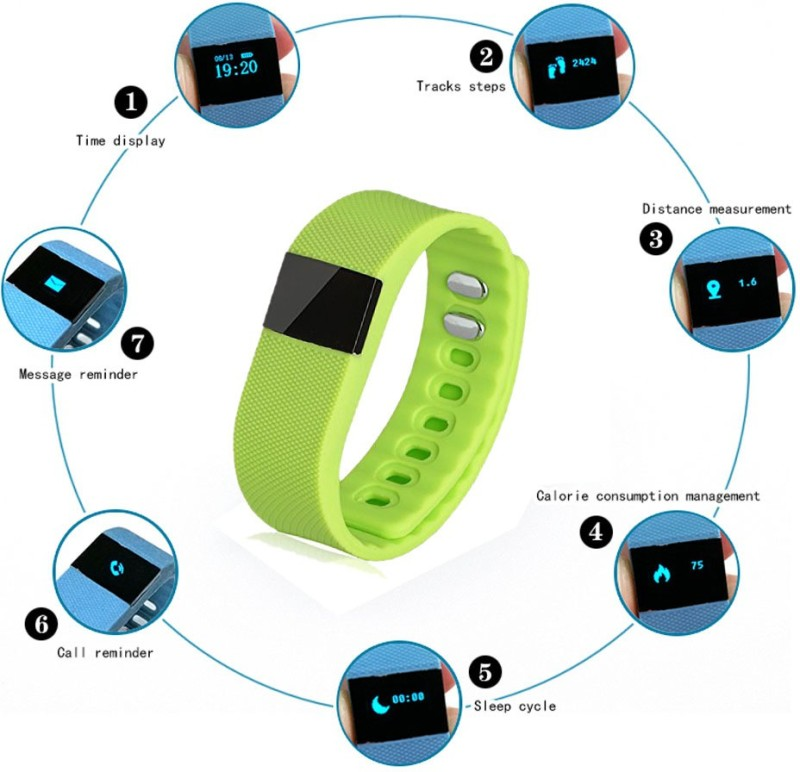 Callmate Wireless Activity Smart Bracelet(Green)