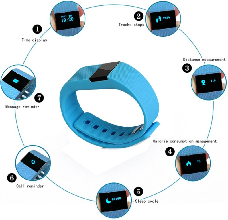 Callmate Wireless Activity Smart Bracelet(Blue)