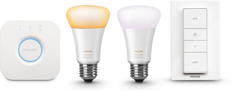 Philips Hue Starter Kit – White Ambiance LED Smart Bulb