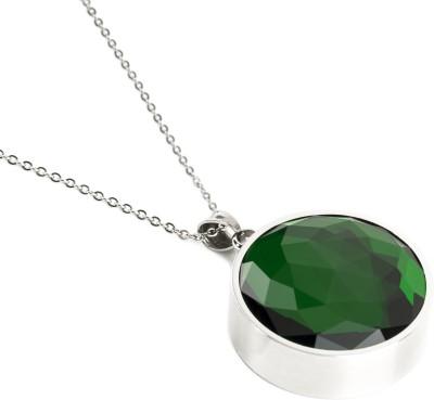 Leaf Aura, Emerald Green Pendant, White Safer V1.0 Smart Pendant