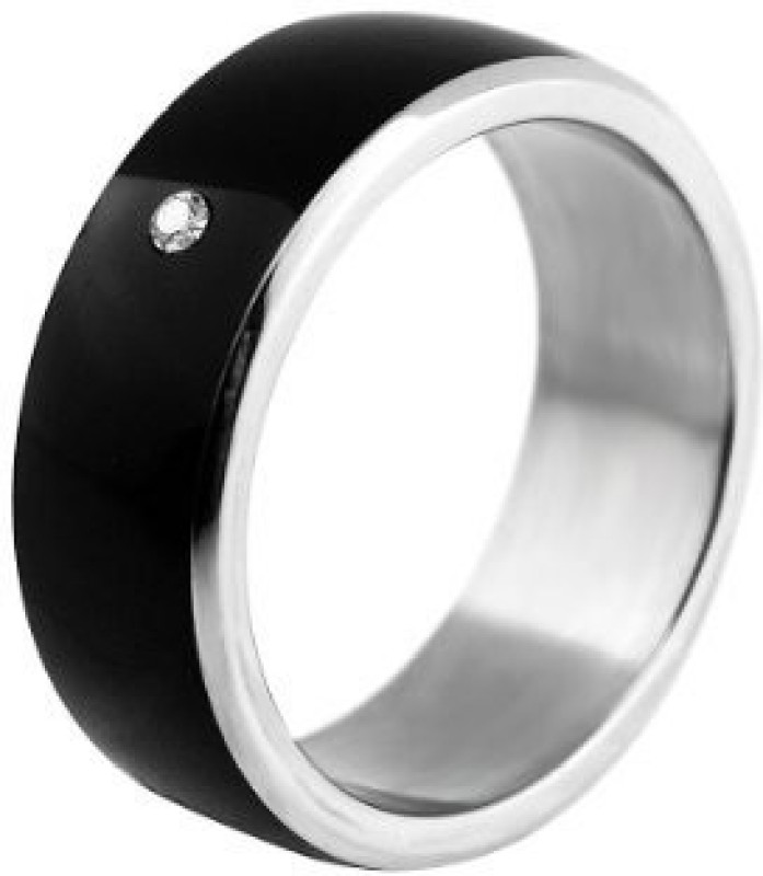 JAKCOM Titanium Rings NFC Smart Ring(Rose Gold, Black)