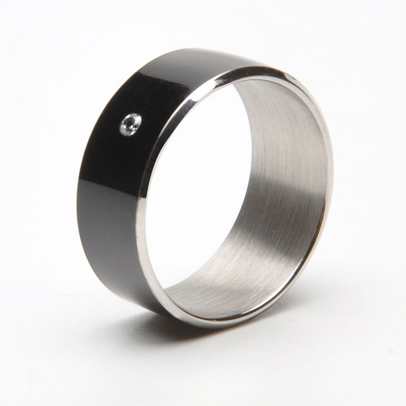 JAKCOM Titanium Ring Smart Ring(Rose Gold, Black)