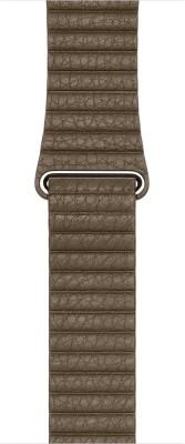 EWOKIT 42mm iWatch Coffee Leather Loop Smart Watch Strap(Brown)