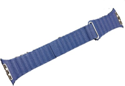 EWOKIT iwatch 42mm Blue Quilted Venezia leather Smart Watch Strap(Blue)
