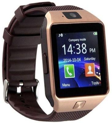 Aksmy Sim and Camera Dz09-A Smart Watch Strap(Brown)