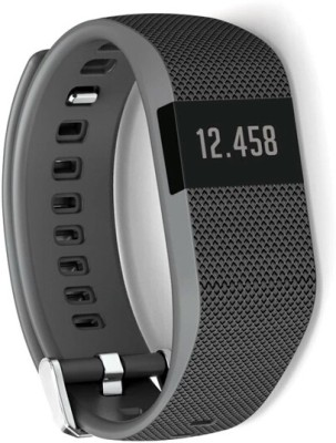 Flipfit Fitness Band HEART RATE MONITOR BLUETOOTH CALL NOTIFICATION 3D Pedometer Temperature Calorie tracker Black Smartwatch