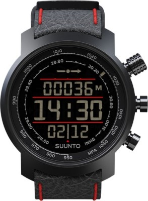 Suunto SS019171000 Elementum Terra Digital Black & Red Leather Smartwatch