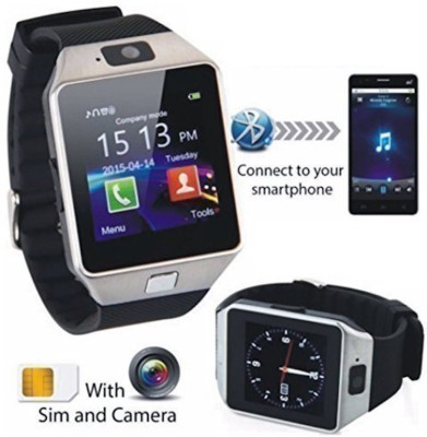 Celestech WS01 With SIM and 32 GB Memory Card Slot and Fitness Tracker Smartwatch(Black Strap)