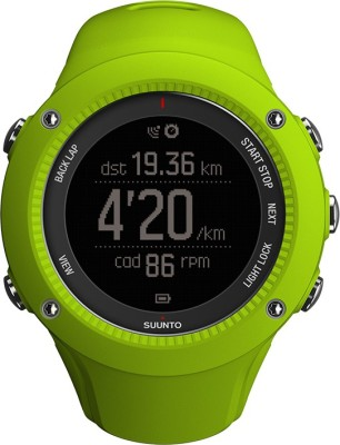 Suunto SS021260000 Ambit3 Run Digital Lime Smartwatch